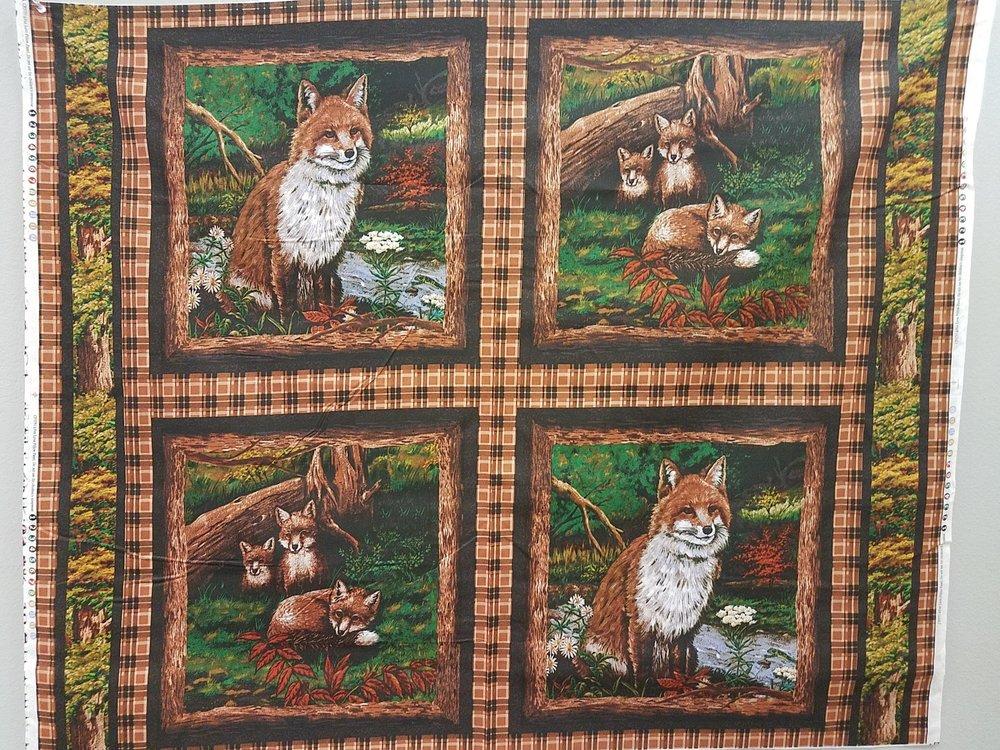 Fox Love 4 pack Pillow Panels