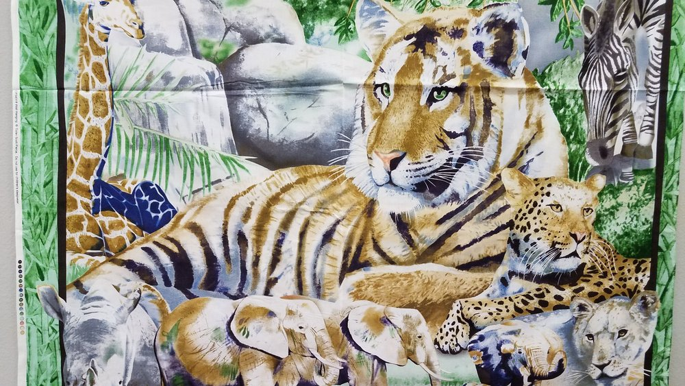 Tiger Wall Hanging Quilt Panel by Dylan Scott Pierce