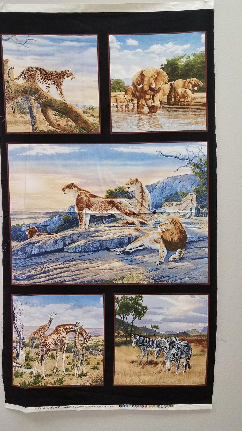 African Safari Panel by Elizabeth Studio