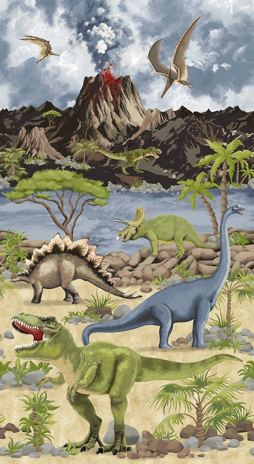 Stone Dino World by Timeless Treasures