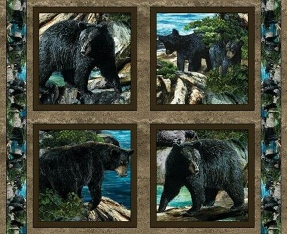 Wild Wings Bear Pillow Panel by Springs Creative