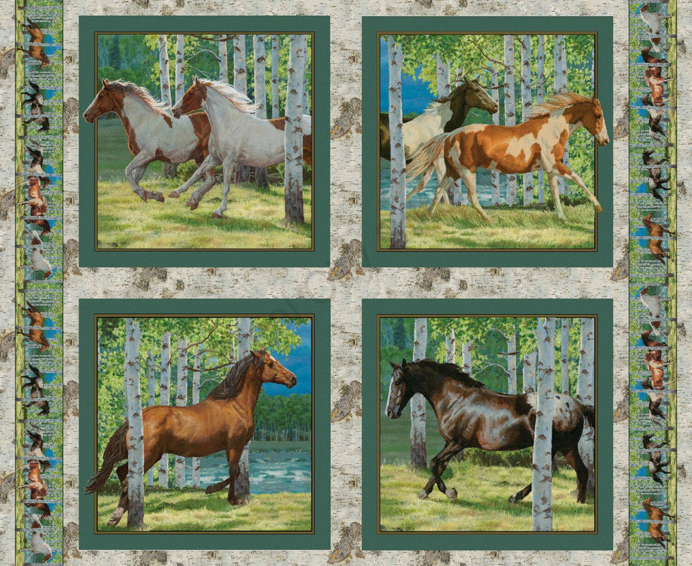 Wild Wings Horse Panel by Disney for Springs Creative