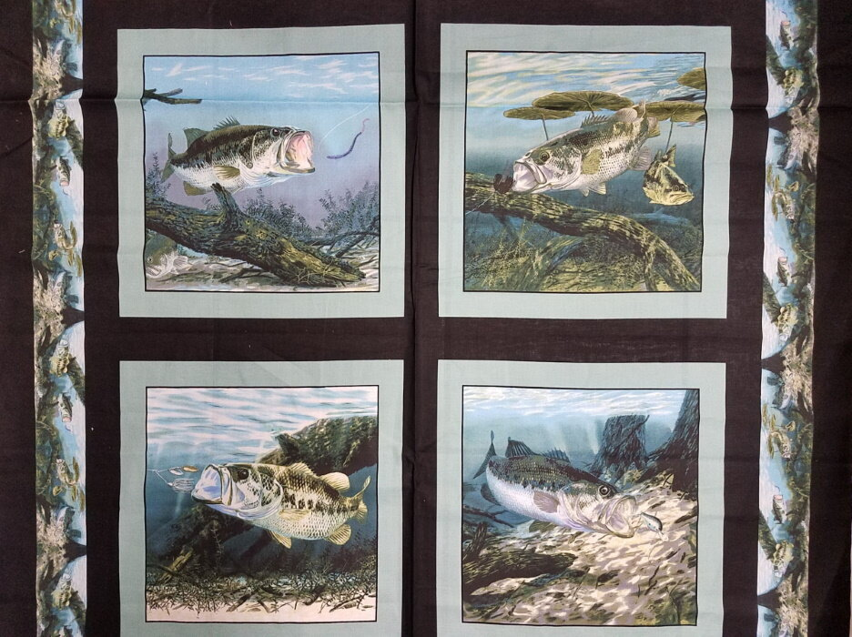 Large Lunkermouth Bass (fish) Panel