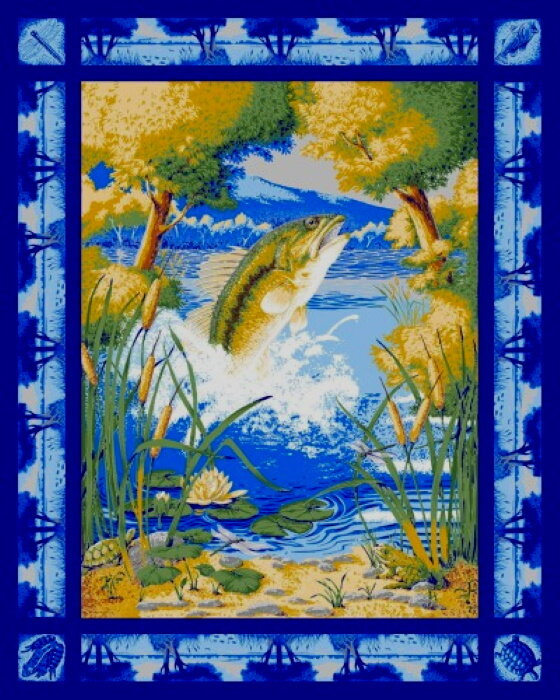 Fish Tournament at Beaver Lake Panel by Concord Prints