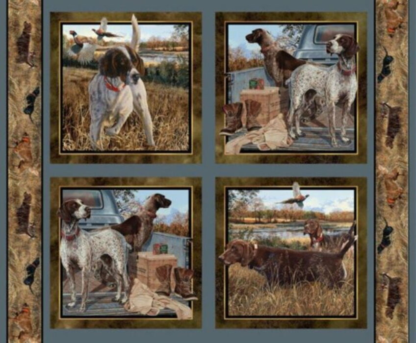 Dog Days Pillow  Panel by Wild Wings for Springs Creative