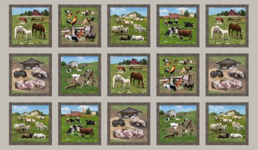 Farm Animals in Blocks by Elizabeth's Studios