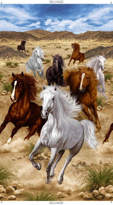 Running Horses by Timeless Treasures