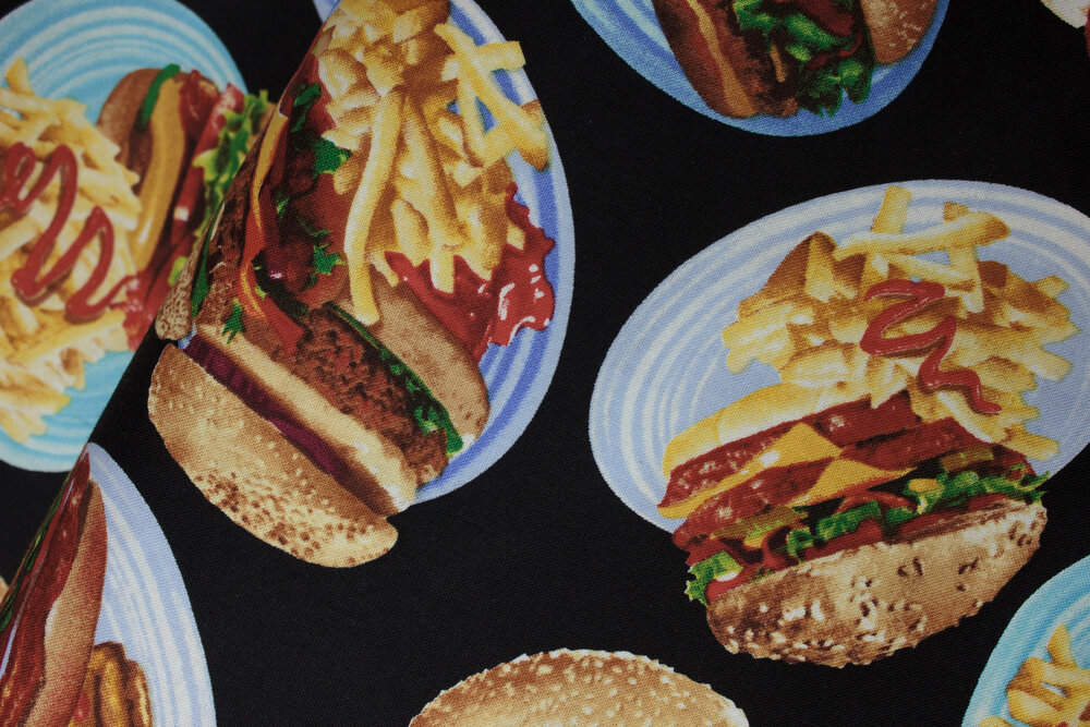 SPECIALTY FABRICS ROOM: Hamburgers and Fries by Timeless Treasures