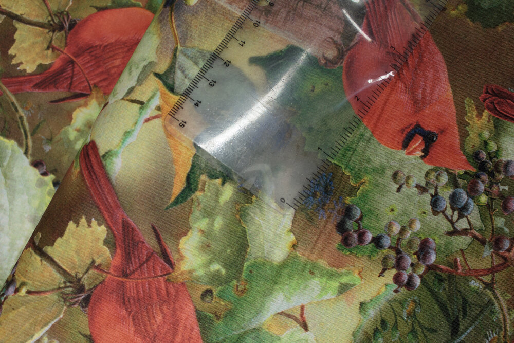 SPECIALTY FABRICS ROOM: Cardinals on Grapevines:  Red Cardinals in the Orchard by David Textiles  - Panel Coordinate