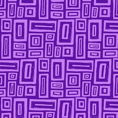Tonal Purple Rectangles:  Points of Hue by Kris Ruff for Blank Quilting