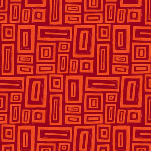 Tonal Red Rectangles:  Points of Hue by Kris Ruff for Blank Quilting