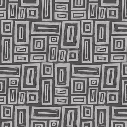 Tonal Gray Rectangles:  Points of Hue by Kris Ruff for Blank Quilting