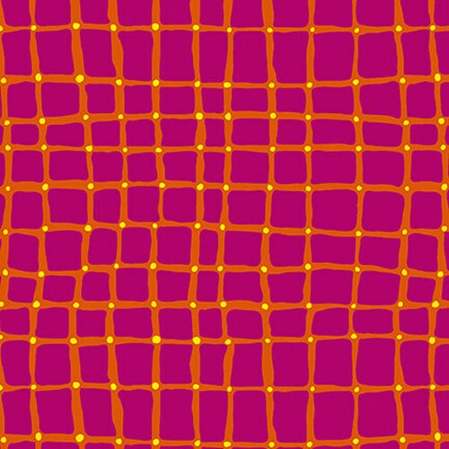 Pink and Orange Squares with Dots:  Points of Hue by Kris Ruff for Blank Quilting
