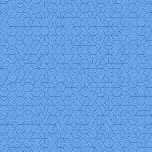 Blue Hexagons:  Bright Eyes -Tattooed by Libs Elliott for Andover Fabrics