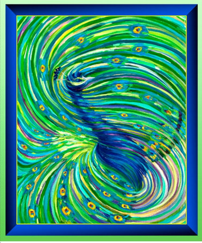 Artworks Peacock Panel by Quilting Treasures