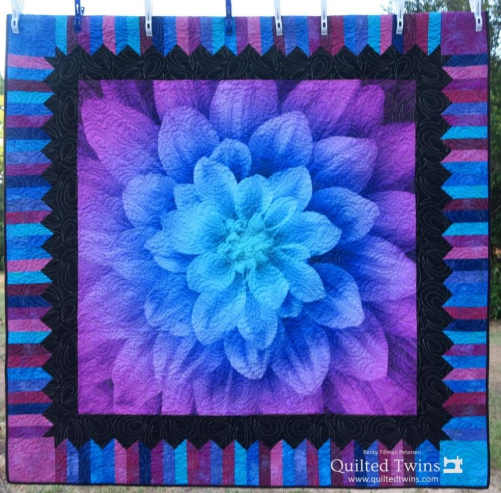 Dream Big Delight - Aurora - Lap Quilt Kit - 60x 60 - Panel, Pattern, Fabric for Top and Binding
