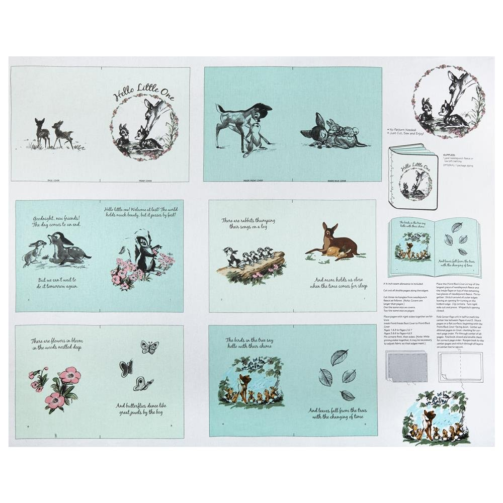 Bambi Softbook -- cloth book - on Mint Green by Springs Creative