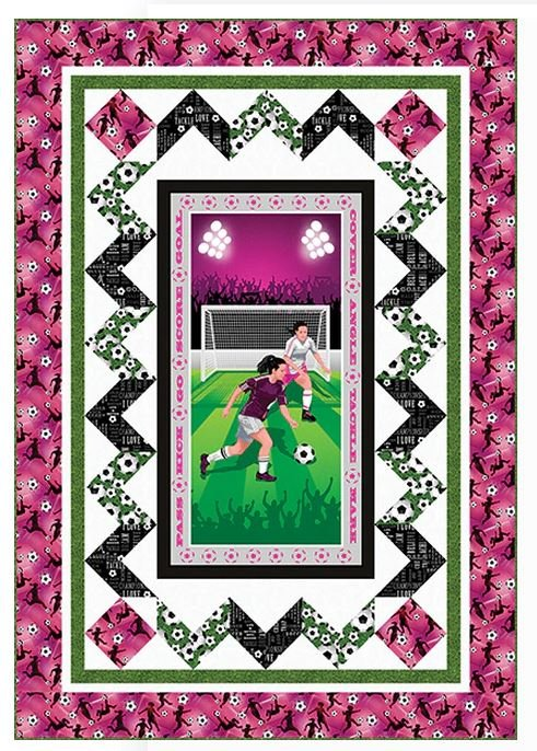 Born to Score - Girl - FREE Quilt Pattern by Studioe