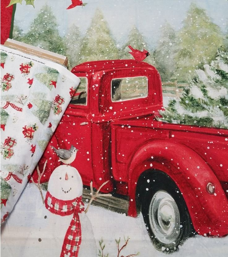 Christmas Fun Red Truck Quilt Fabric Bundle
