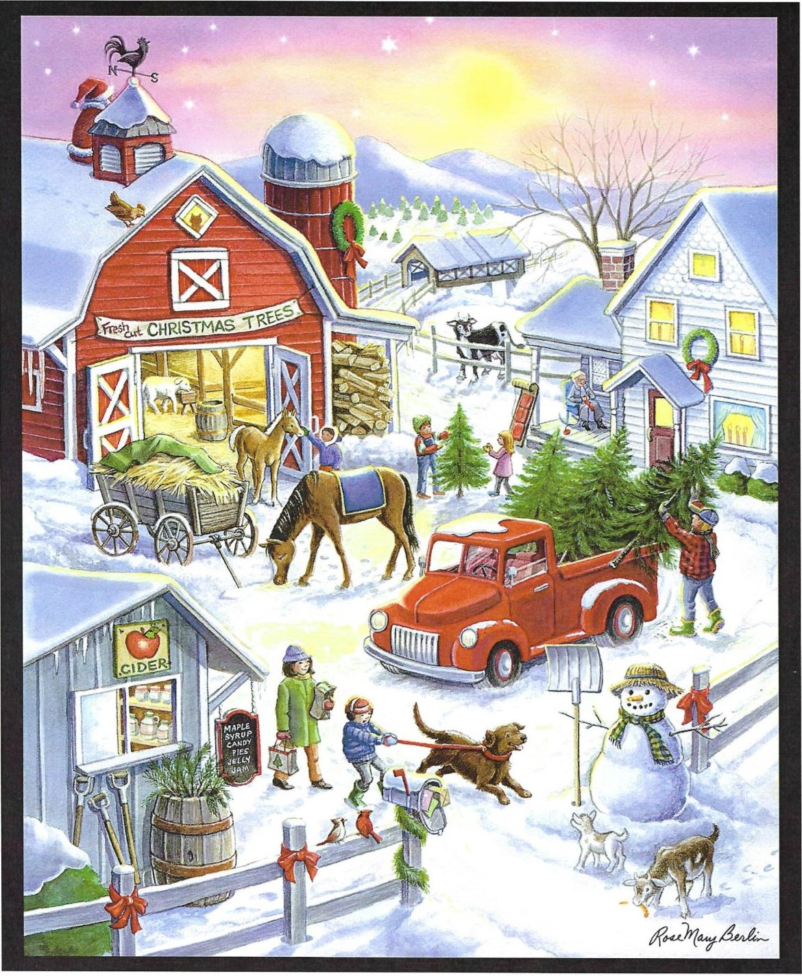Christmas Tree Farm Quilt Panel Designed by Rose Mary Berlin for MDG