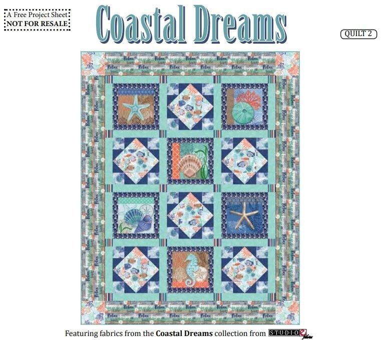 Coastal Dreams 2 Quilt - FREE Pattern by Studioe