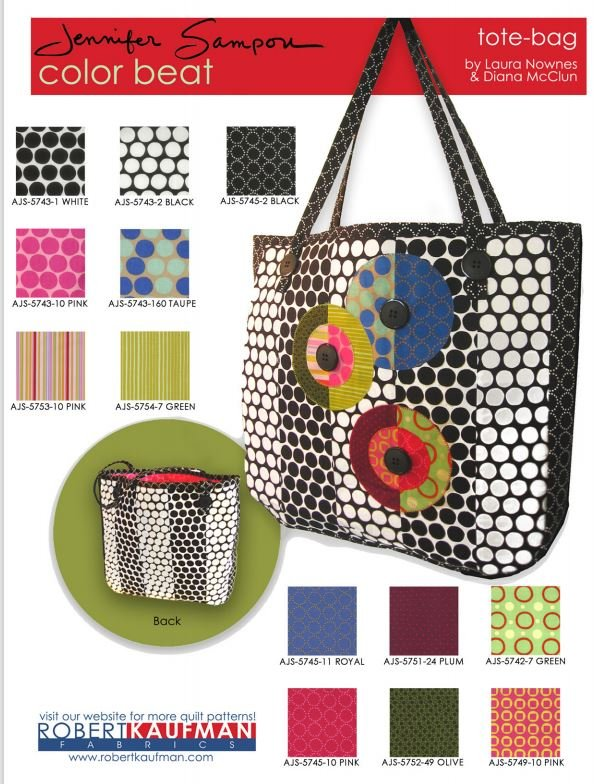 Color Beat Tote - Free Pattern by Robert Kaufman