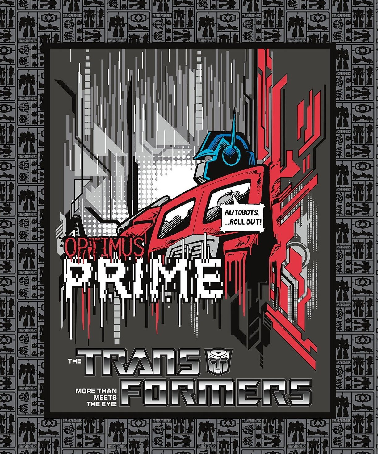 Optimus Prime Quilt Panel by Camelot Fabrics
