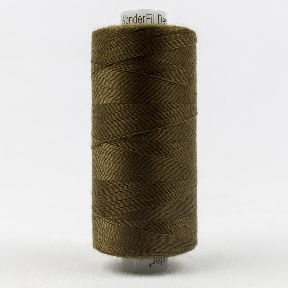 Bronze Olive Thread:  Designer Series - Wonderfil Thread, 1094 yards - 1000m, 40 wt, 100% All-Purpose Polyester