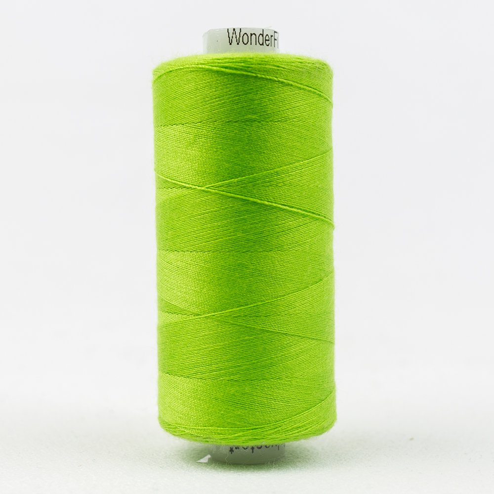 Chartreuse Thread:  Designer Series - Wonderfil Thread, 1094 yards - 1000m, 40 wt, 100% All-Purpose Polyester