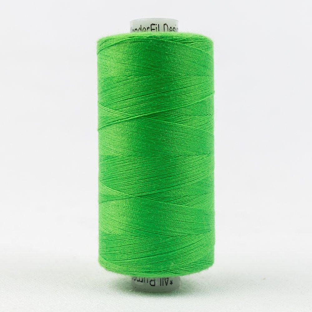 Lime Green Thread:  Designer Series - Wonderfil Thread, 1094 yards - 1000m, 40 wt, 100% All-Purpose Polyester
