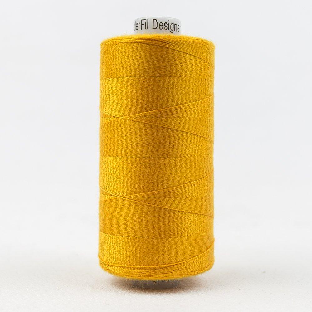 Tangerine Thread:  Designer Series - Wonderfil Thread, 1094 yards - 1000m, 40 wt, 100% All-Purpose Polyester