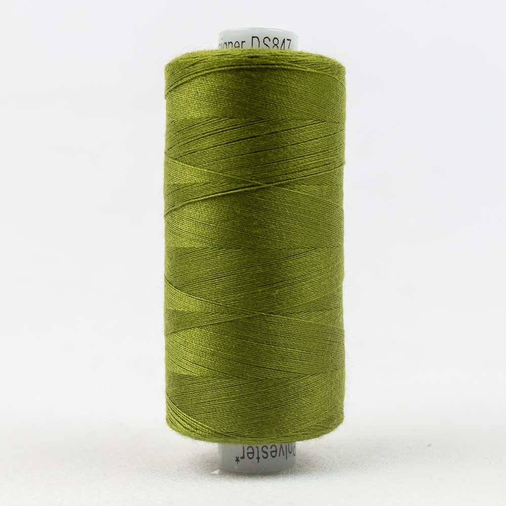 Olive Drab Thread:  Designer Series - Wonderfil Thread, 1094 yards - 1000m, 40 wt, 100% All-Purpose Polyester
