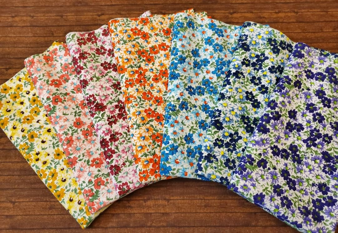 Flower Patch - Rachael's Picks- 7 Piece Half Yard Bundle Pack