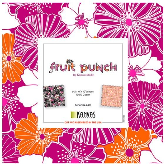 Fruit Punch - 10 Squares - 40 to 42 pieces by Benartex