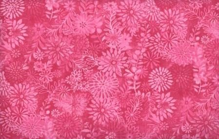 3 Yard Backing Piece: 108 Wide Fuchsia Packed Floral in a single 3 yard piece