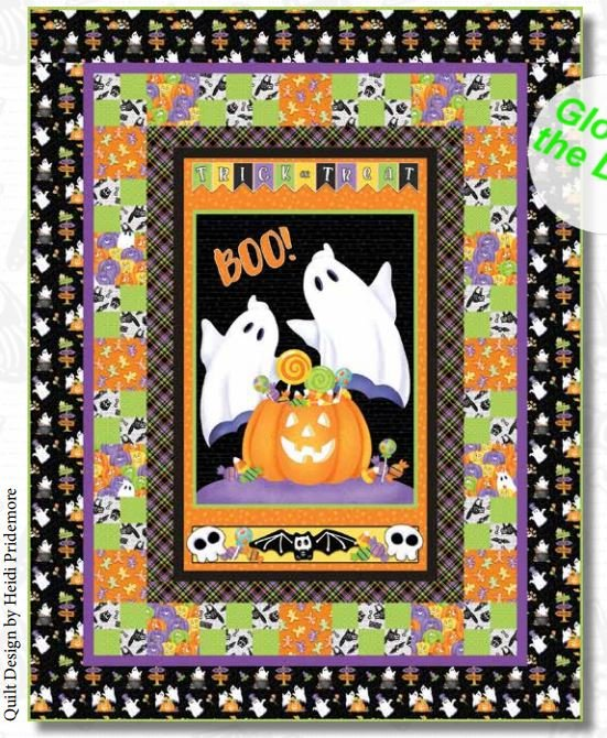 Glow Ghosts Quilt  - FREE Pattern by Henry Glass