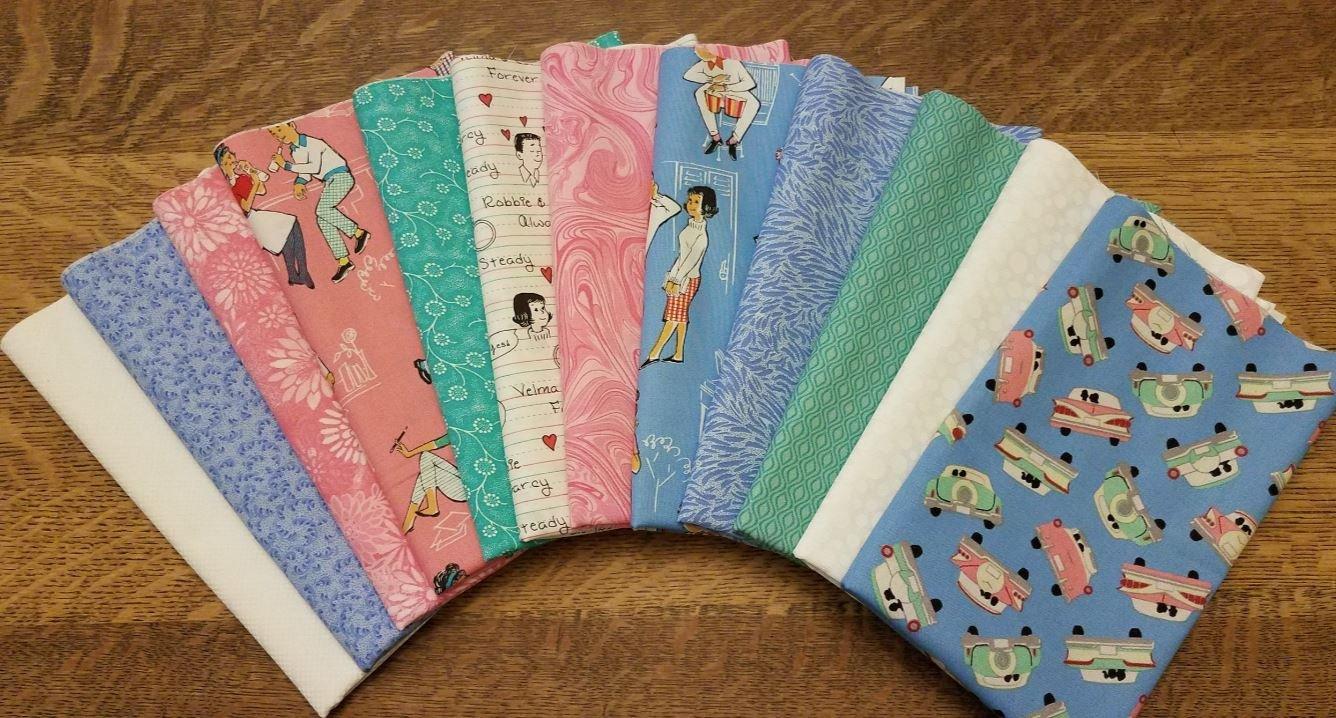 Going Steady - by Windham Fabrics - 12 Piece Half Yard Bundle Pack