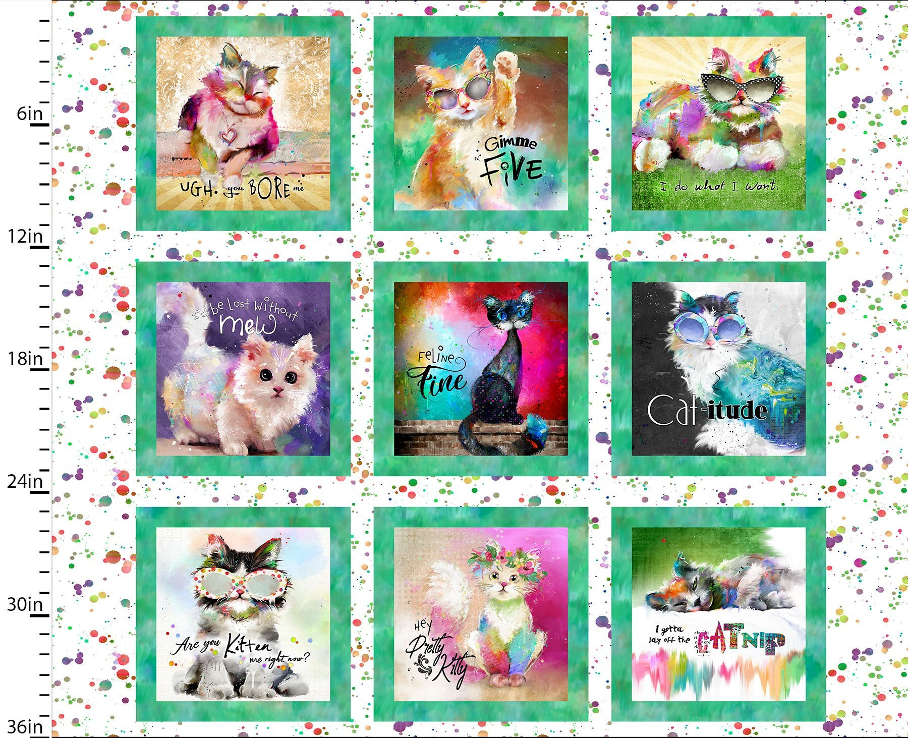 Good Kitties by Connie Haley for 3 Wishes Fabrics