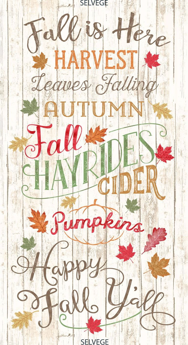Happy Fall, Ya'll Quilt Panel by Timeless Treasures