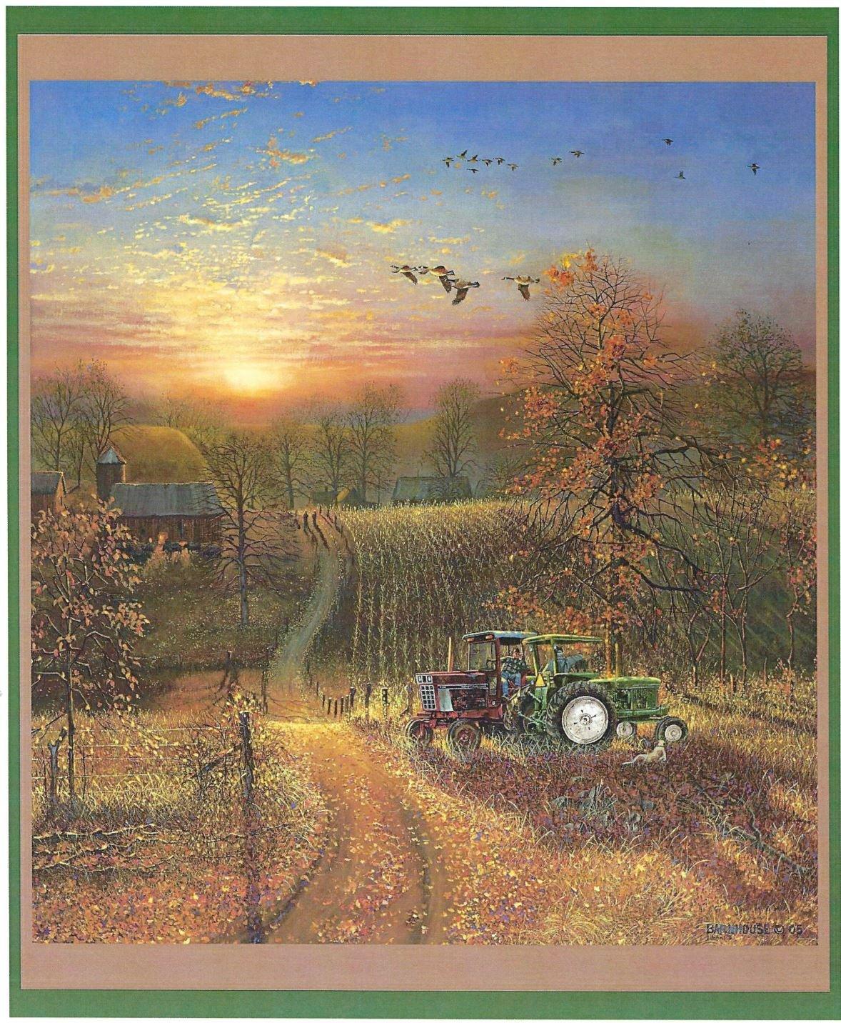 Harvest Break Quilt Panel