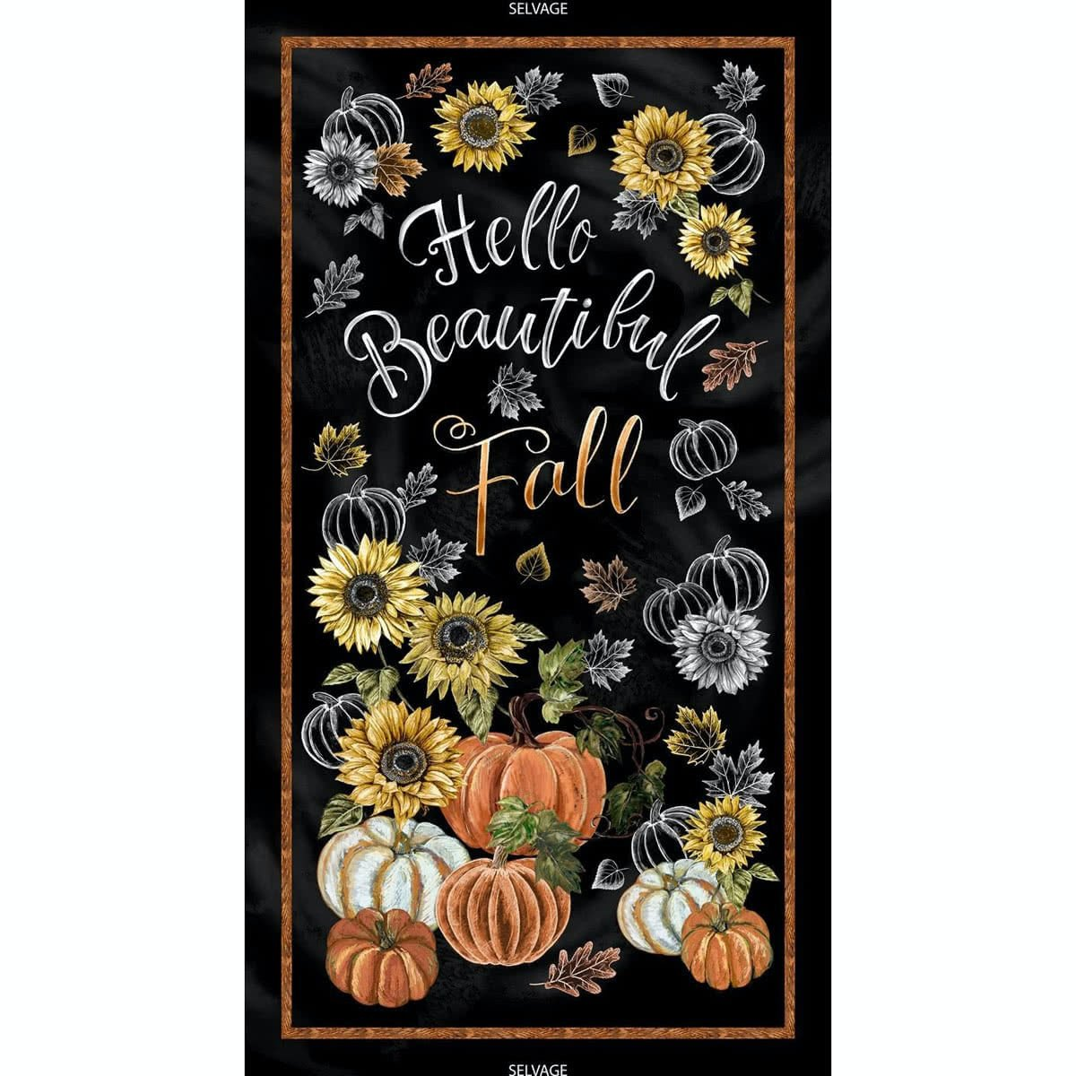 Hello, Beautiful Fall Quilt Panel by Timeless Treasure