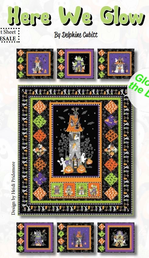 Here We Glow Table Topper and Place Mats - FREE Pattern by Henry Glass