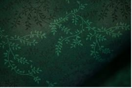 3 Yard Backing Piece: 108 Wide Hunter Green Variegated Branches in a single 3 yard piece