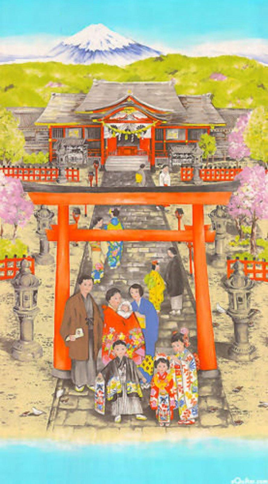 Miyamairi Panel by Michael Miller