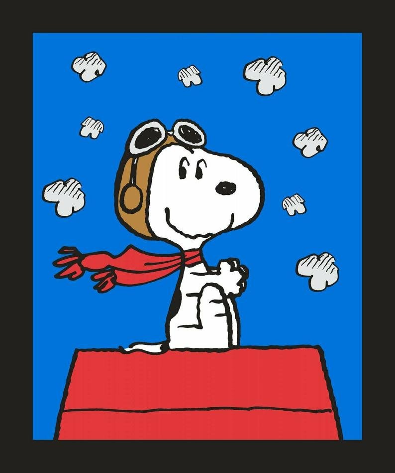 Snoopy Fights the Red Baron - Quilt Panel by Springs Creative