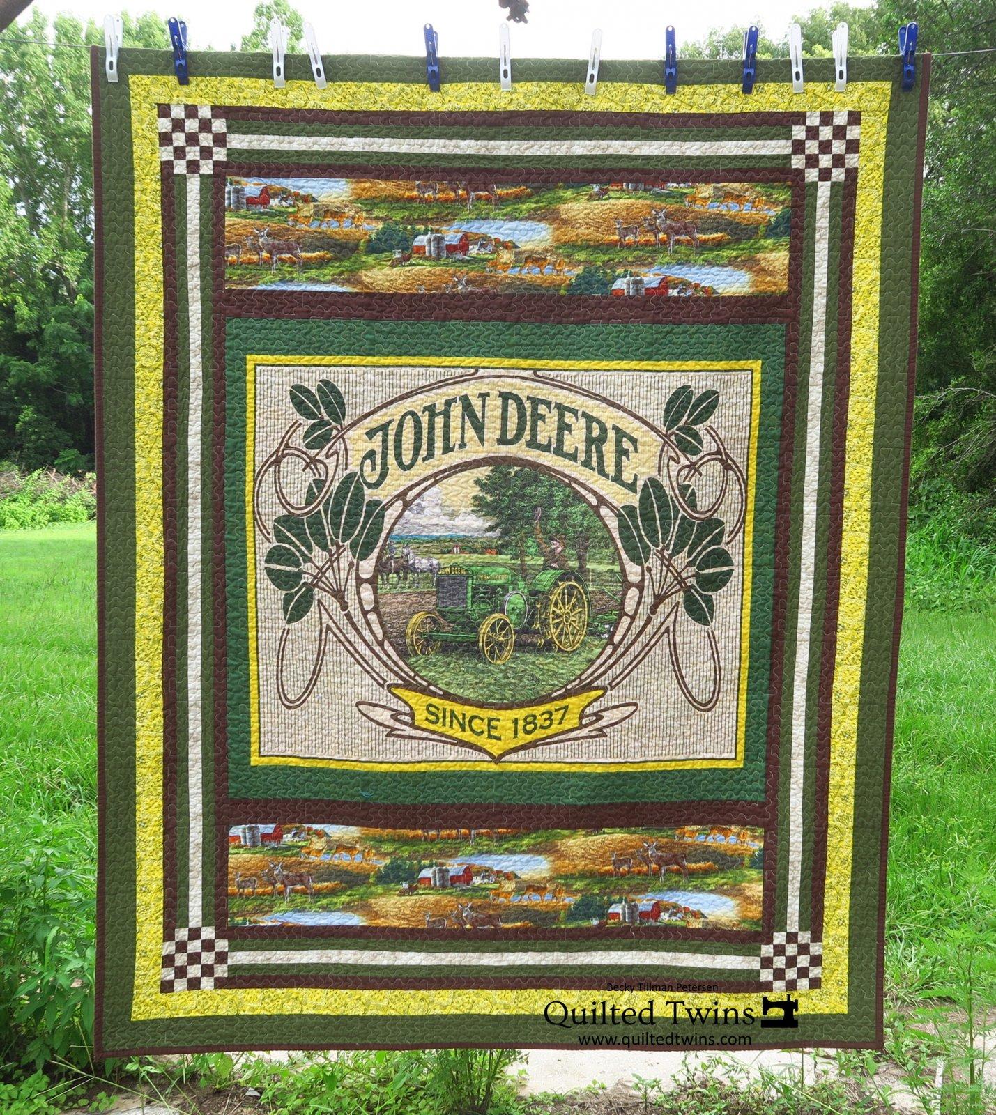 Digital Pattern Download: Down Home - John Deere Vintage Quilt - Digital Pattern by Becky Tillman Petersen