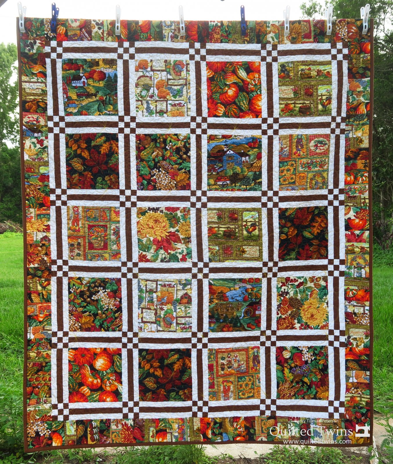 Show Off Fall Lap Quilt Kit - Panel, Pattern, Fabric for Top and Binding