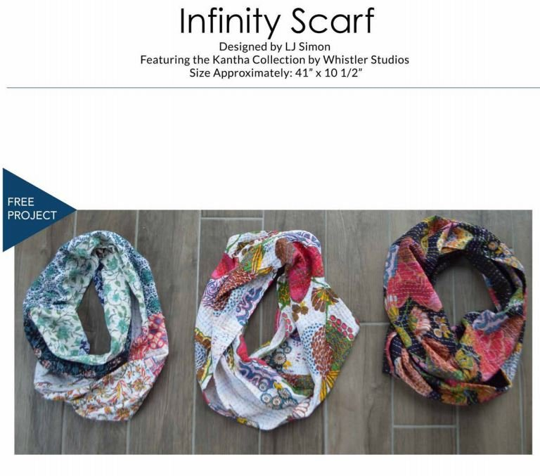 Kantha Infinity Scarves - FREE Pattern by Windham Fabrics