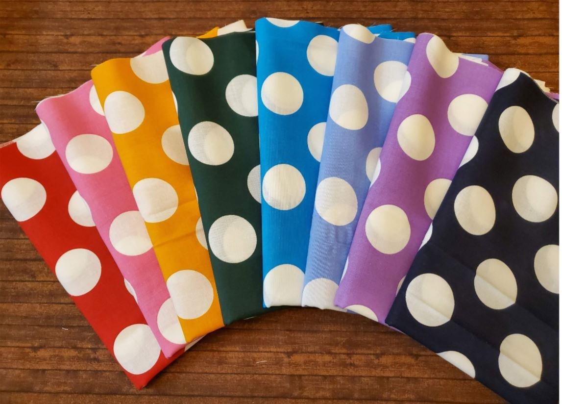Large Dots - Rachael's Picks- 8 Piece Half Yard Bundle Pack
