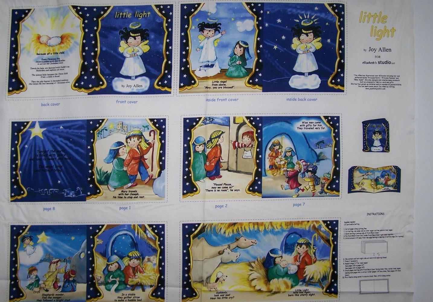 Little Light Nativity Children's book Panel by Elizabeth's Studios
